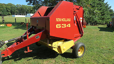 1997 New Holland 634 4X4 Round Baler Barn Kept Very Low Usage Rare Find