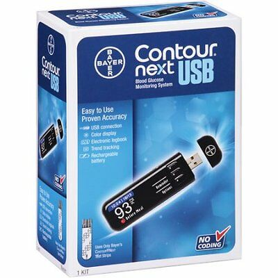 Bayer Contour Next Usb Blood Glucose Monitoring System Opened but Unused...