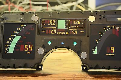 1986 86 C4 Corvette Digital Dash Instrument Cluster ALL NEW LCD's Core Required
