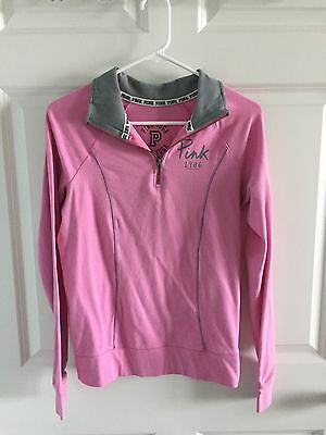 Victoria's Secret Pink Yoga Pullover Jacket XS Zip Athletic Top Long Sleeve