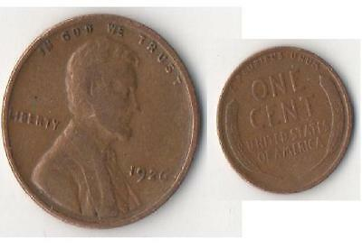 RARE United States of America 1926 one cent Coin 1 USA Coin z
