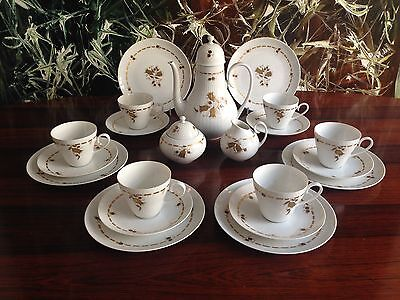 ROSENTHAL Romance 21- pcs Coffee service für 6 Pers white with Bellflower
