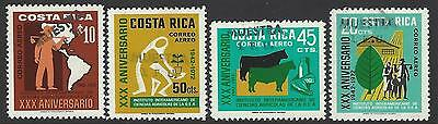 COSTA RICA(G1010c) INSTITUTE of AGRICULTURE SCIENCES, OVERPRINT MUESTRA MNH 1972