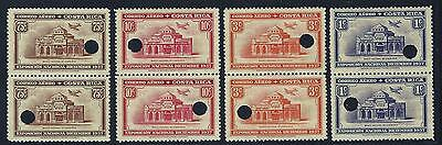 Costa Rica (G510) National Exposition, Mena Ppa35-Ppa38 Plate Proofs Mnh 1937