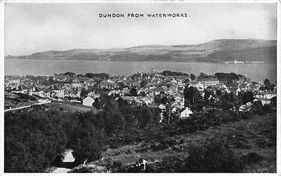 Vintage B&W Postcard DUNOON from Waterworks Argyll and Bute SCOTLAND