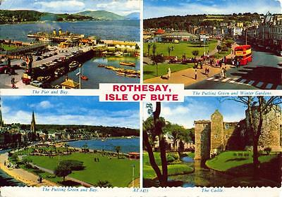 Vintage 1969 Postcard ROTHESAY Isle of Bute Scotland Multiview by Valentines