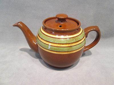 Vintage SADLER Brown Betty Teapot w/Stripes - Made in Staffordshire England