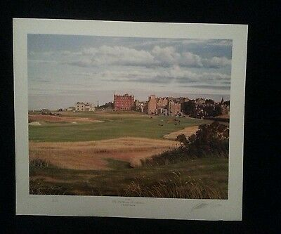 """Large 25""""x21"""" Graeme Baxter ltd Edition signed print The Old Course St. Andrews"""