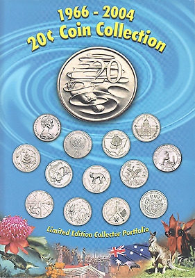 1966-2004 Australia 20 Cent Coin Collection Limited Edition Original Mint Folder