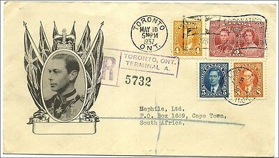 1937, KG VI Coronation 3d with spec. F.D. postmark 10  May on illustrated cover