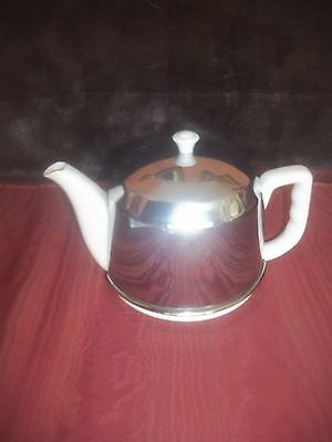 Antique Vintage Japan Teapot Porcelain Insulated Aluminum Cozy/Cover 1930's 40's