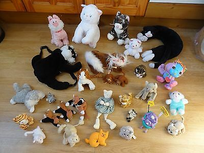 Bundle 29 Large & Small Plush Soft CATS 11 ins Long max-  inc. SMASHING MUM Cats