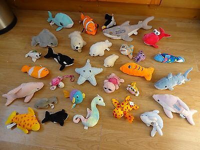 Bundle Of 30 Plush Soft SEA CREATURES 18 inches Long max