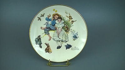 "Vintage Norman Rockwell Decorative Plate Spring - "" Sweet Song So Young """