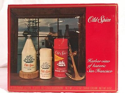 Vintage Old Spice Set By Shulton Unused Harbor Collection #3339