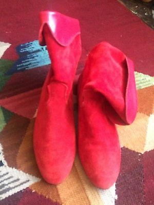 Suede Ankle 80's Boots 4 Western Boho