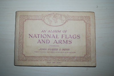 John Player Cigarette Card Album & Set  of  50 Cards National Flags  & Arms 1936
