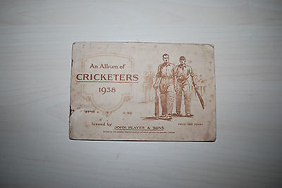 John Player Cigarette Card Album & Set  of  50 Cards Cricketers 1938