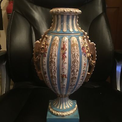 Rare Antique Rudolstadt Vase Rare 18th Century
