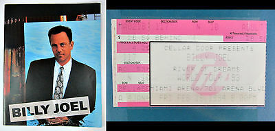 1993 Billy Joel River Of Dreams Tour Program With Concert Ticket