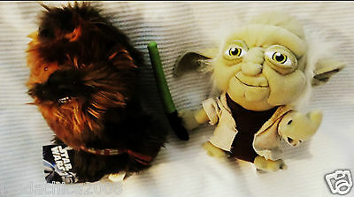 Star Wars YODA & CHEWBACCA Plush Toys (7 INCHES)