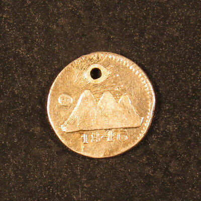 1846 G Central American Republic 1/4th Real HOLED