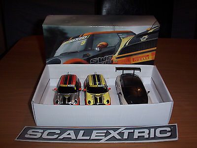 Scalextric Triple Pack including Pair of Minis and a Bentley GT3 Free Track