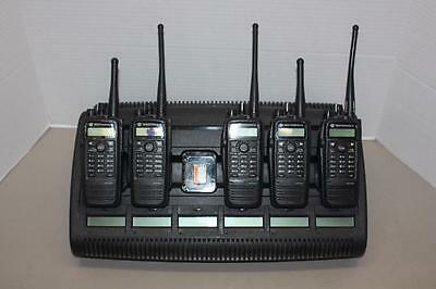 Motorola XPR 6550 Two Way Radios UHF 403-470 MHz 5 Pack w/ IMPRES Multi-Charger