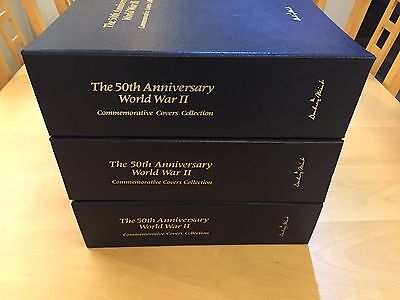 Danbury Mint 50th Anniversary World War 2 Commemorative Covers Stamp Collection