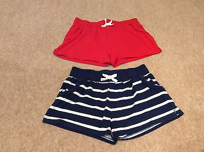 Girl's shorts x2 age 10-11 years