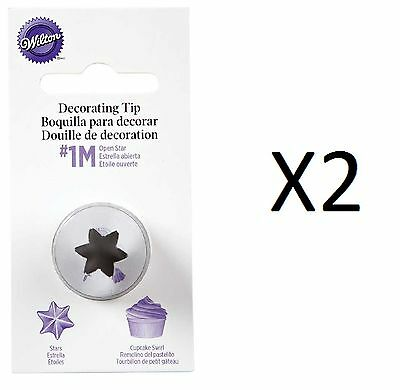 Wilton Open Star Tip #1M Icing Decorating Nickel Plated Brass (2-Pack)