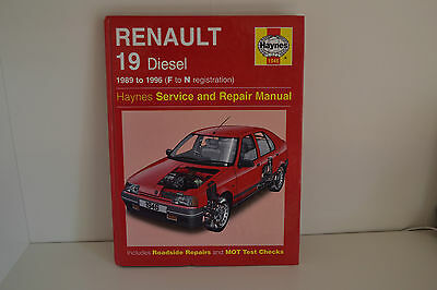 Renault 19 Diesel USED Haynes Workshop Service Repair Manual 1989-1996 (1946)