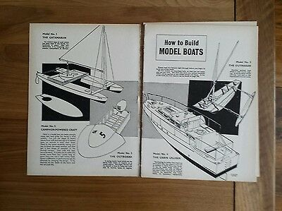Vintage Instructions Papers Pages How To Build Model Boats c.1960s
