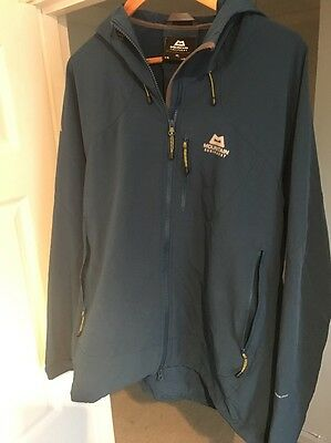 Mountain Equipment Men's Frontier Hooded Softshell Jacket size XL