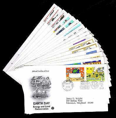 1995 U.s. First Day Covers - Lot Of 17 - Vf - Cv$21.50 (Esp#4377)