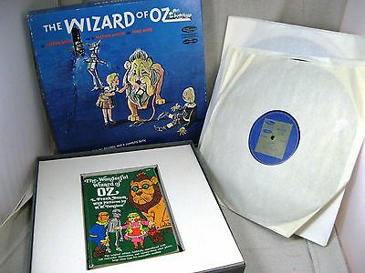 WIZARD OF OZ 4 Records & Book 1961 Living Literature LPs