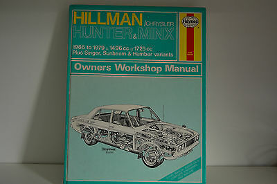 Hillman Hunter & Minx USED Haynes Workshop Service Repair Manual 1966-1979 (033)
