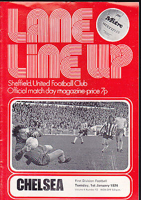 1973/74 SHEFFIELD UNITED V CHELSEA 01-01-1974 Division 1