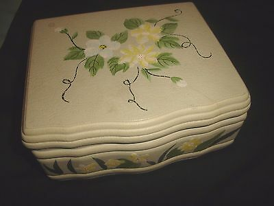 Green  Hand Painted Wooden Jewellery Box