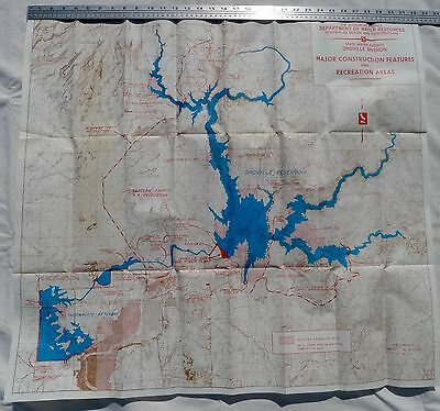 Oroville Dam Project Map, 1965, California