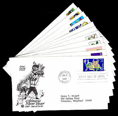 1997 U.s. First Day Covers - Lot Of 11 - Vf - Cv $16.00 (Esp#4386)