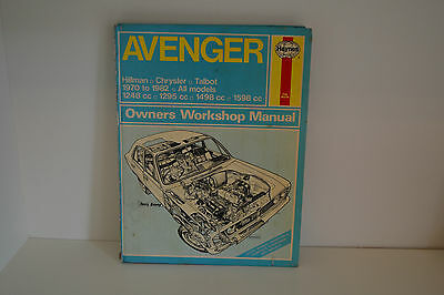 Hillman Chrysler Talbot Avenger USED Haynes Workshop Manual 1970-1982 (037)