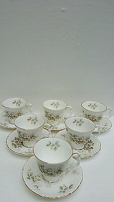 Royal Albert Made In England  Haworth Bone China X 6  C0Ffee  Cups Saucers