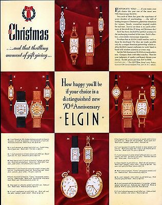 1935 Elgin & Glenmore Ads- Christmas Watch Collection- Kentucky Tavern