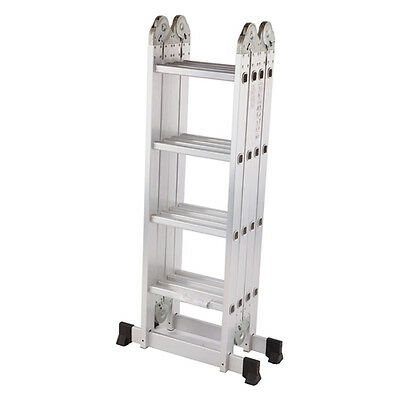 Multi-Purpose Multiple Position 12 Step Aluminum Folding Ladder (BRAND NEW)