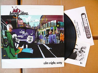 "HEADRILLAZ - The Right Way 12"" VINYL PROMO Depth Charge mix, press photo"