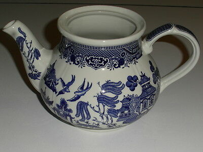 Broadhurst,staffordshire Blue Willow Pattern,large Teapot (Minus Lid)  Vgc
