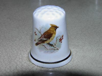 Waxwing Bone China Thimble