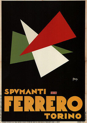 FERRERO TORINO, Vintage Advertising Giclee Canvas Print 20x28