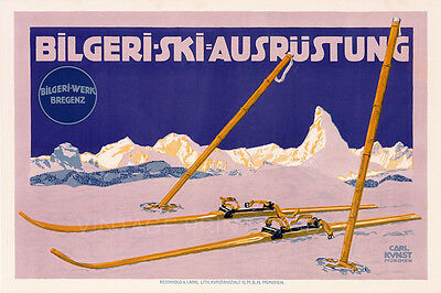 Ski Bilgeri Vintage Travel Reproduction Canvas Print 30x20